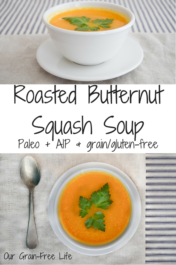 AIP Roasted Butternut Squash Soup