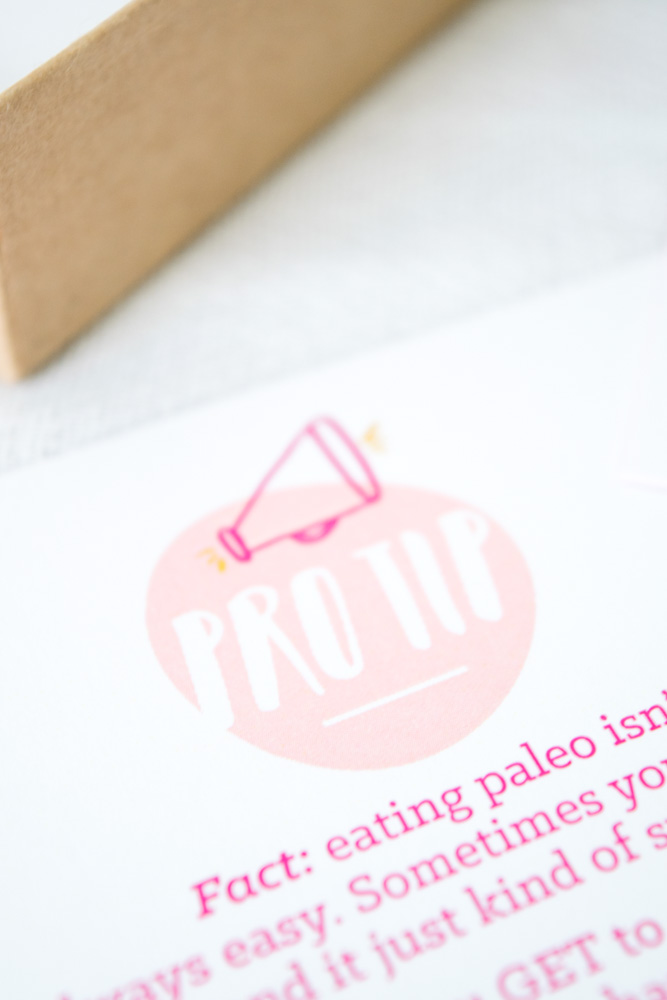 paleo pep talk cards