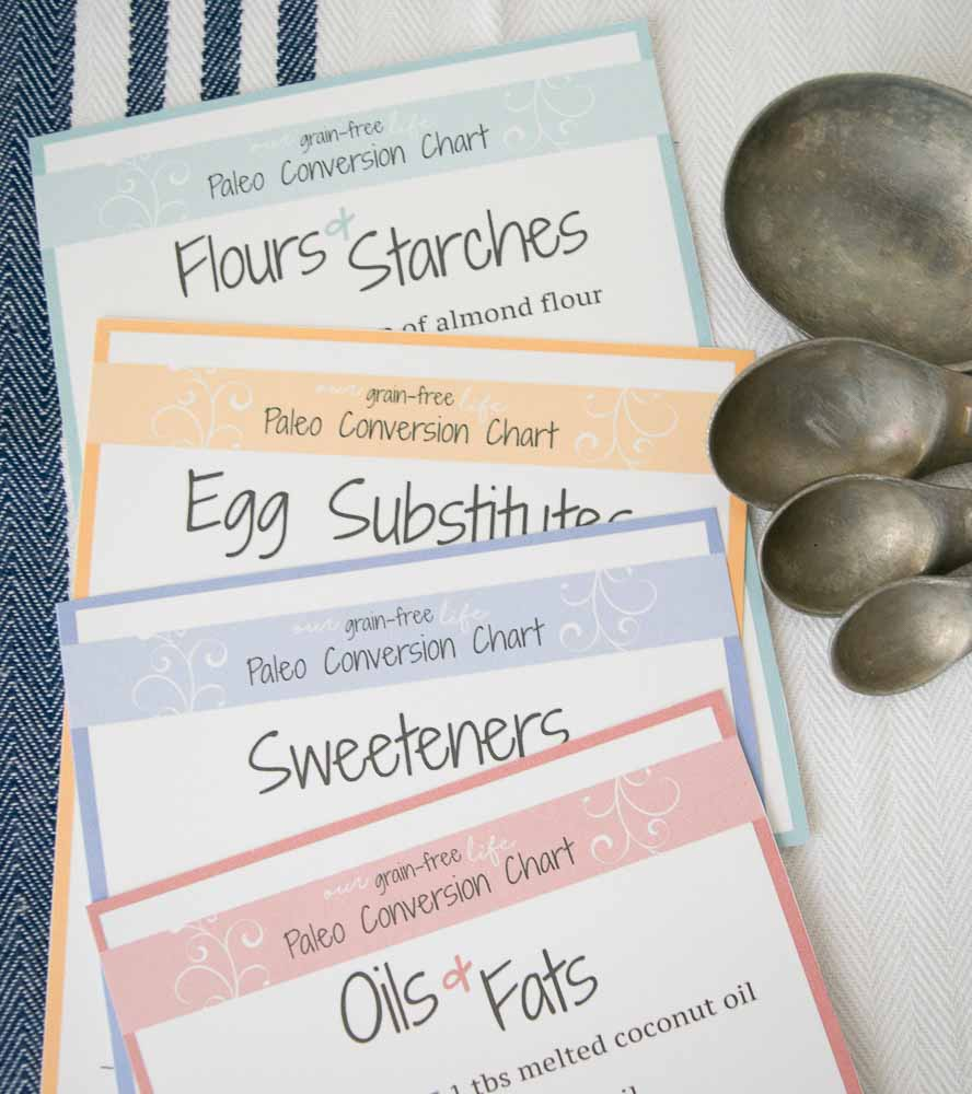 Paleo Baking Conversion Charts